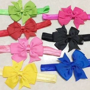 Other - 10 Colorful Bow Headbands Lot for Babies 🎀